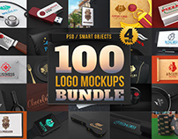 100 Logo Mockups Bundle Vol.4