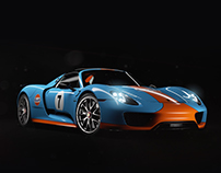 Porsche 918 Gulf - CGI & Animation