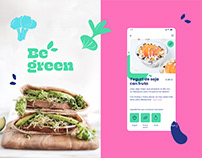 Veggie food delivery app