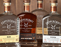 Coppercraft Distillery Packaging, Logo, Bottle Design