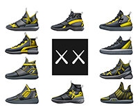 Kaws Footwear Collab Collection