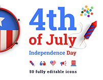 Free icon set indepence day