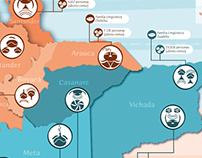 Etnias Indígenas Andinas/Orinoquía COL // Infographic