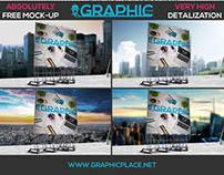Roof Billboard - Free PSD Mockup