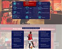 Manchester United store web design