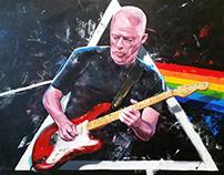Pink Floyd - David Gilmour 100x150cm Acrylic on Canvas