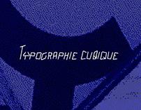 Typographie cubique - Q*ubse_type
