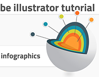 Adobe illustrator tutorial. 3d infographics template
