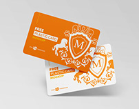 Free Plastic Cards Mockup