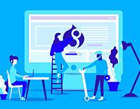 Illustrations - Drupal, agence digitale, accessibilité