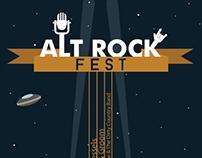 Alternative Rock Music Festival - Illustrated Poster