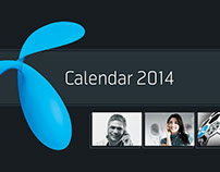 Calendar design for Telenor
