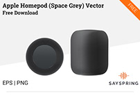 Apple HomePod Vector (Space Gray) Free Download