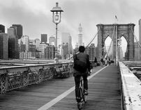 Bikes on Brooklyn Bridge