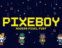 Free Pixeboy Pixel Font