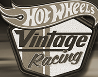 HOT WHEELS + Vintage Racing Logo