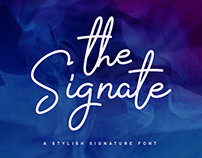 the Signate - signature font #fontself