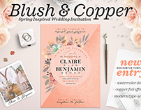 Blush Copper Wedding Invite I