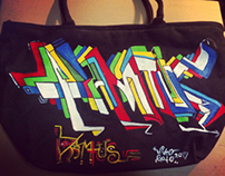 custom paint totebag