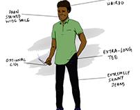Minicoy Boys - Digital Sketch