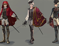 Necropolis - Character/Clothing Designs