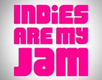 'Indies Are My Jam' brand logo