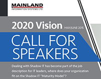 Call for Speakers  |  2020 Vision