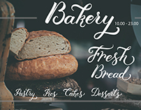 Bakery related calligraphy