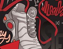 Foot Locker Europe Exclusive Sneaker Illustration