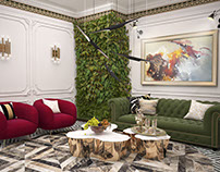 Reception in eclectic style in Dubai