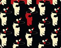 Book cover design - Un bonheur insoutenable (Ira Levin)