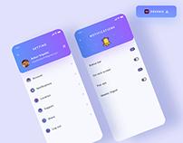 Settings UI design - (Freebie)