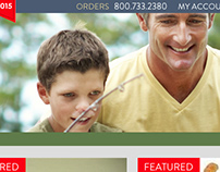 Ohio Fishing Supplies Website reDesign