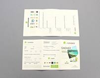 Kalisondage survey flyer/brochure design