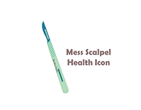 mess scalpel Health Icon