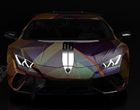 GOLD&WINE Lamborghini Huracan wrap project