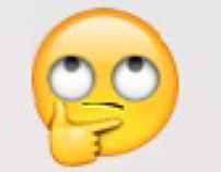 "Hybrid ""let me see if I care"" emoji."