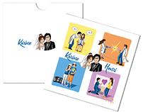 Karine and Henri's wedding card