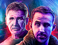 "Blade Runner 2049 poster ""Ciné Story"" magazine cover"