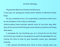 Another Apology...