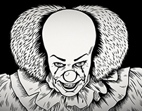 PennyWise illustration and animation for Roadshow