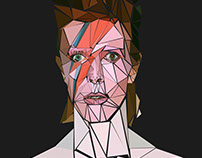 Aladdin Sane- Shattered Low Poly
