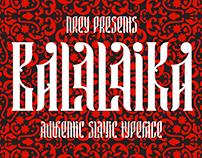 Balalaika typeface