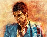 """""""TONY MONTANA"""" Painting"""