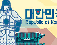 Republic of Korea - Admiral Lee SoonShin & Gwanghwamun