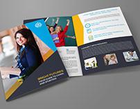 University - College Bi-Fold Brochure Template