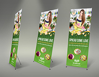 Flower Shop Signage Roll Up Template