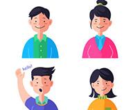 Vibrant character illustration