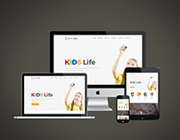Kids Life Web Template
