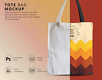 Tote bag mock up free psd template
